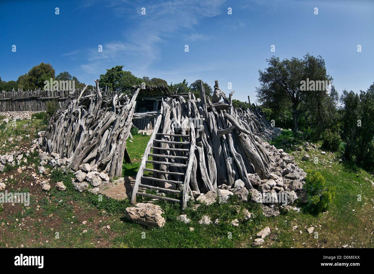 a sheep-fold, Urzulei, Nuoro province, Sardinia, Italy - Stock Image
