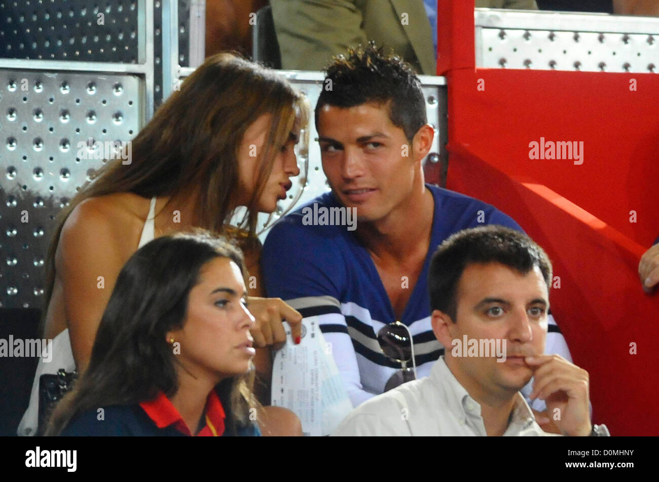 Cristiano Ronaldo and girlfriend Irina Shayk Spain vs USA ...