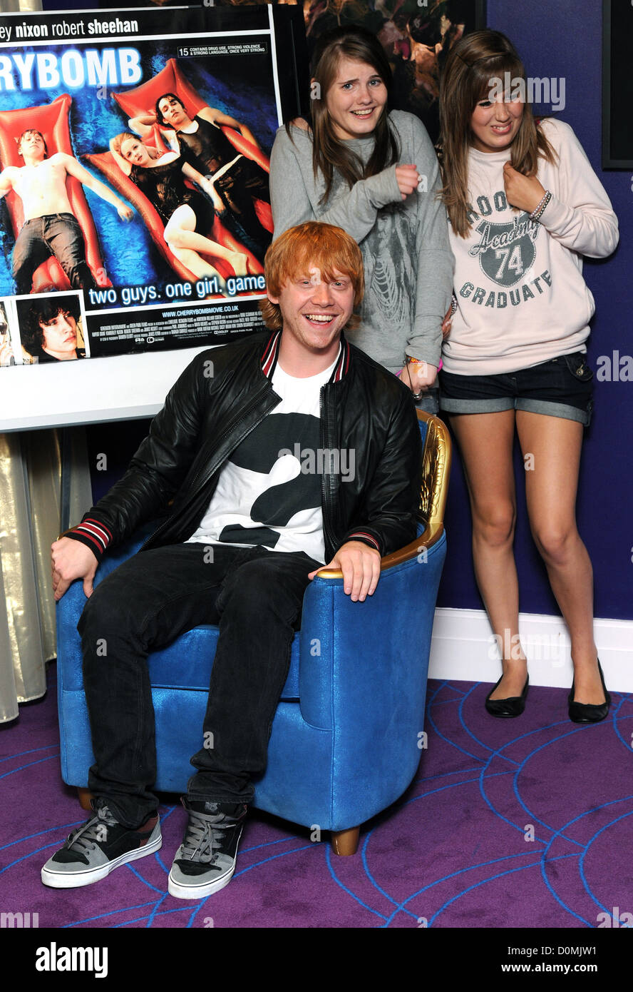 Rupert grint photocall before a fan meet and greet to promote rupert grint photocall before a fan meet and greet to promote todays dvd release of cherrybomb held at the sanctum soho hotel m4hsunfo