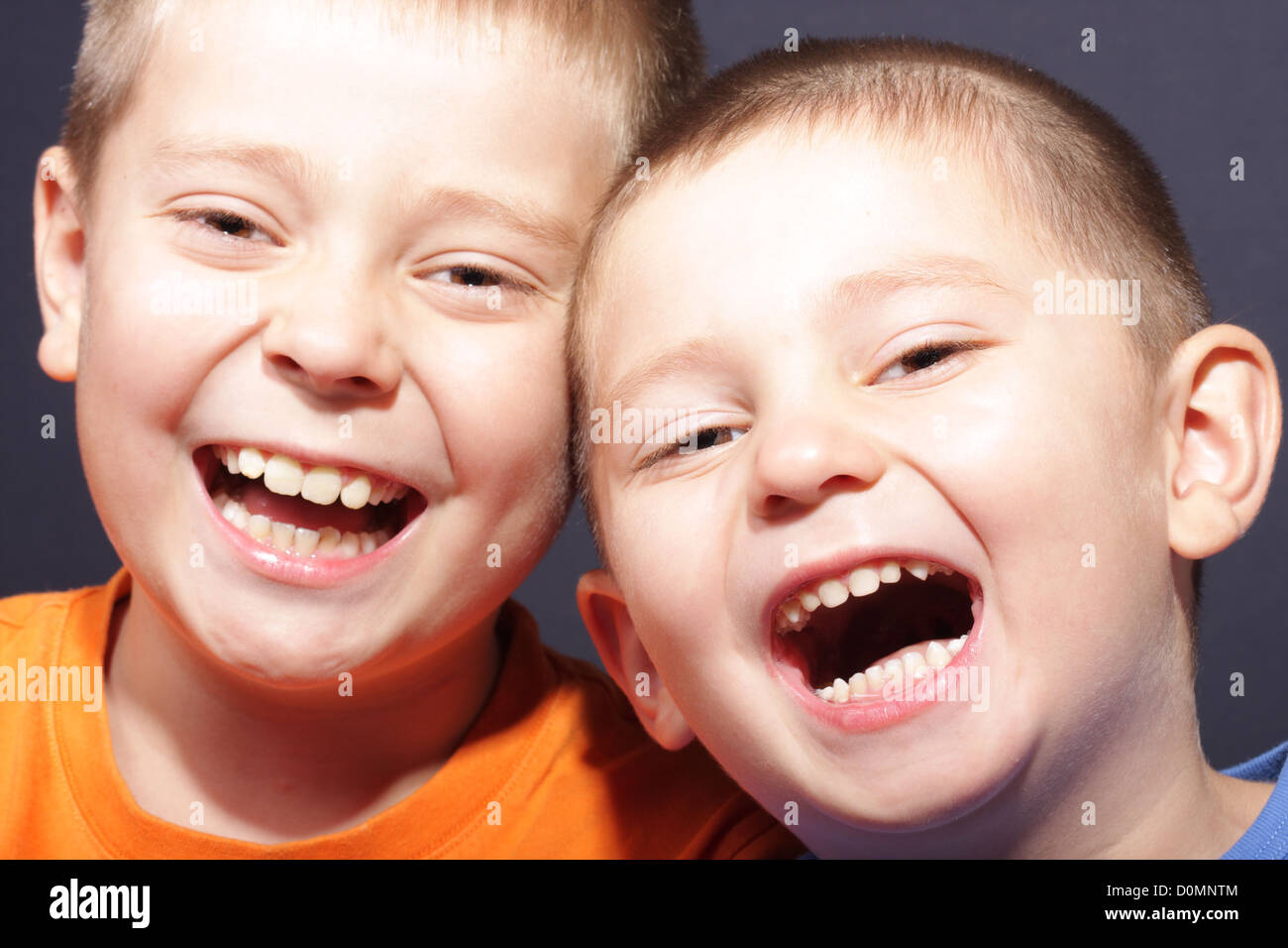 Laughing aloud - Stock Image