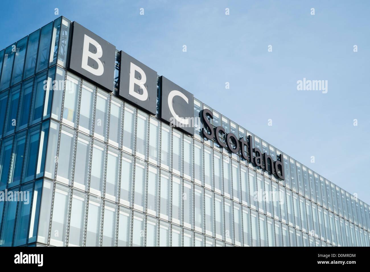 Headquarters of BBC Scotland in Glasgow - Stock Image