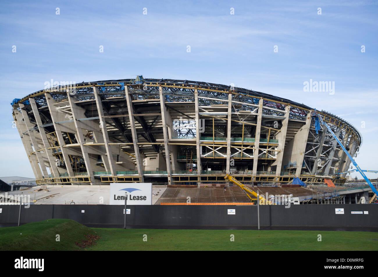 Construction of new Glasgow Hydro arena Scotland United kingdom - Stock Image