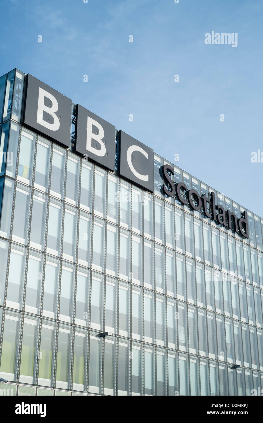 Headquarters of BBC Scotland in Glasgow - Stock Image