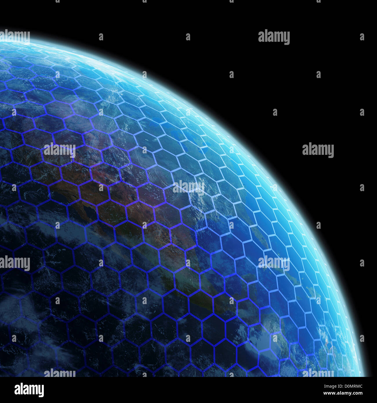 Wire frame model layered over planet earth Stock Photo: 52088748 - Alamy
