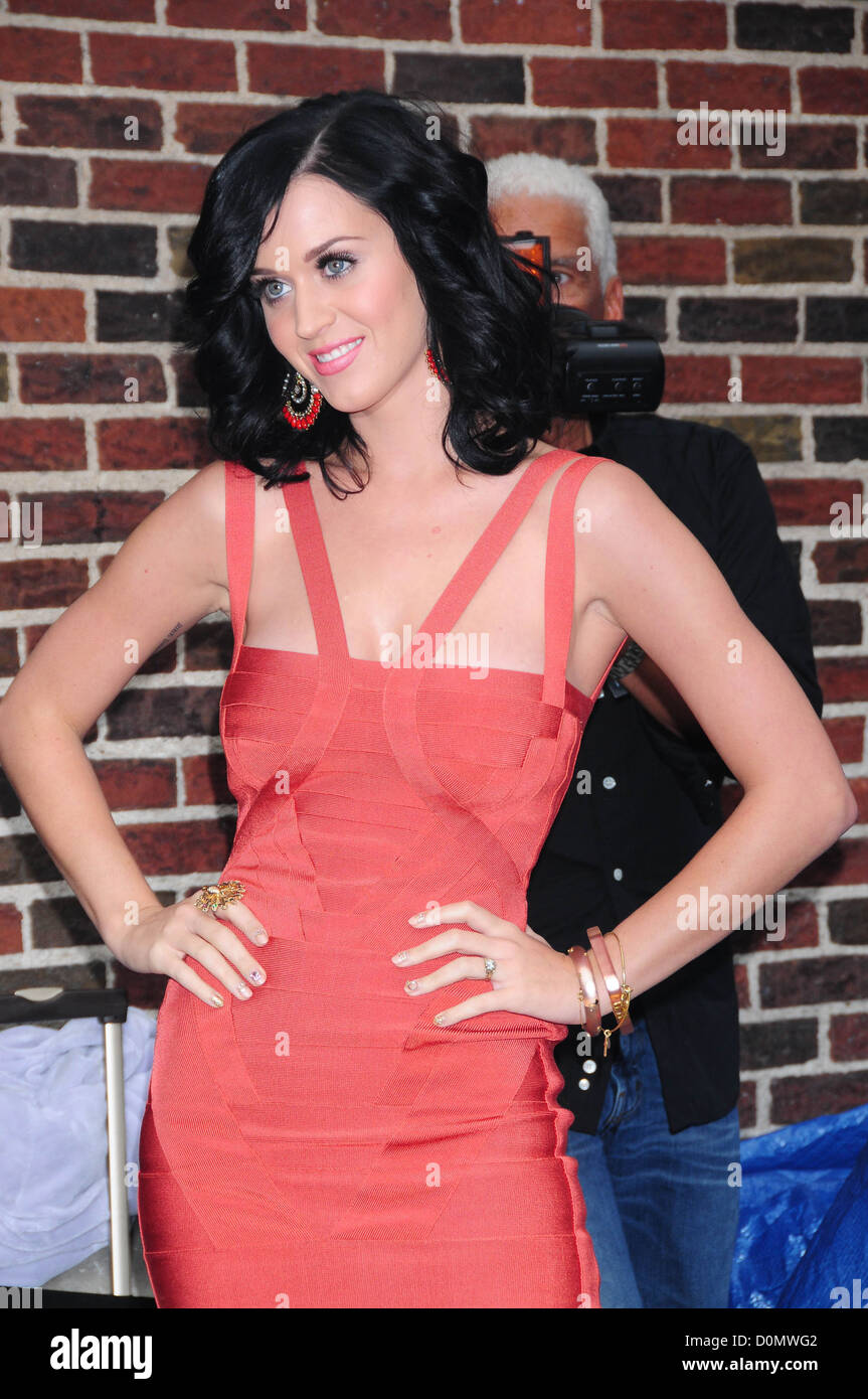 39d034f122a Katy Perry outside The Ed Sullivan Theater 'The Late Show with David ...