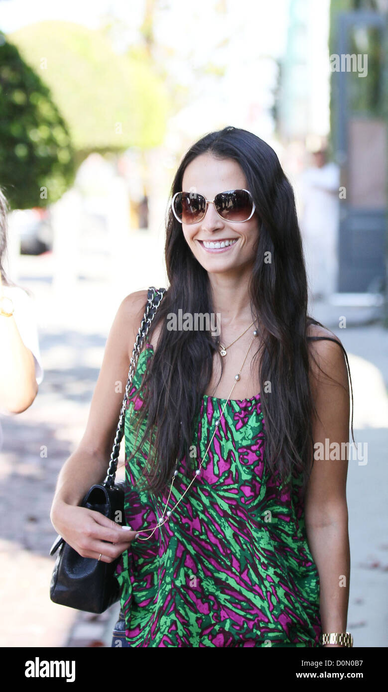 The Fast and the Furious actress, Jordana Brewster, leaving Kate Somerville Skin clinic Los Angeles, USA - Stock Image