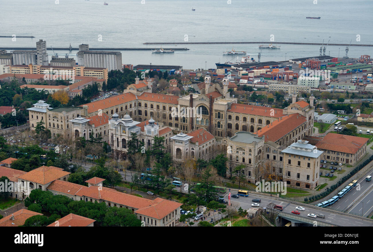 Aerial view of Faculty of Medicine, Istanbul University Turkey - Stock Image