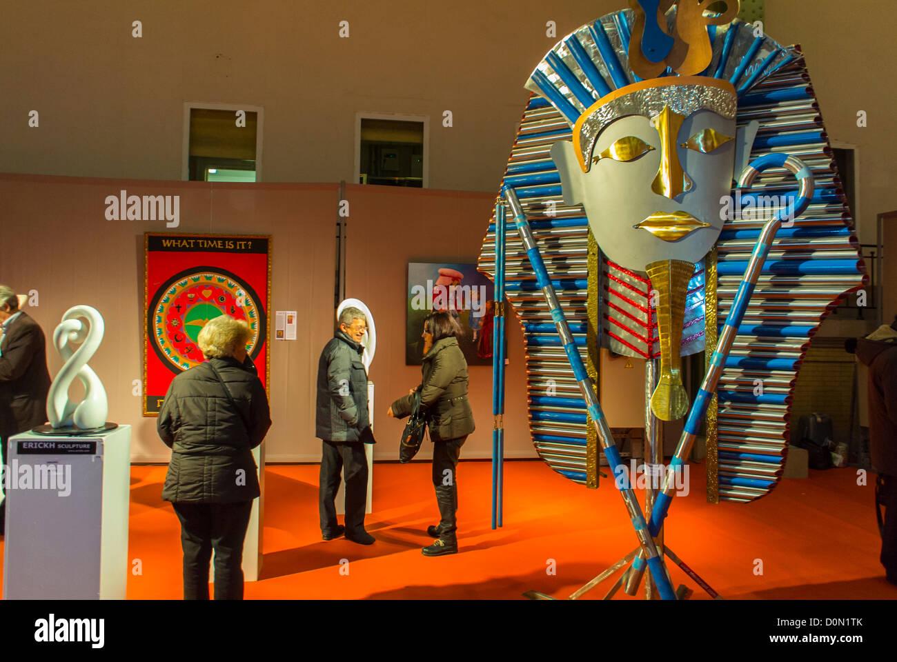 Paris, France, Amateur Art Show, 'Art en Capital', 'Salon des Artistes Français', in the Grand - Stock Image