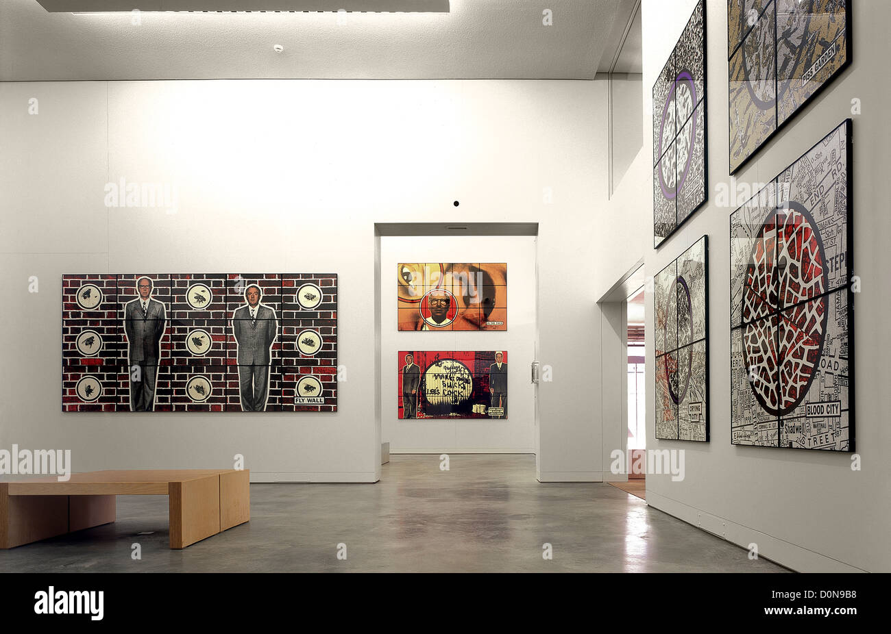 Inaugural exhibition by Gilbert and George at the Milton Keynes Gallery in 1999 Stock Photo