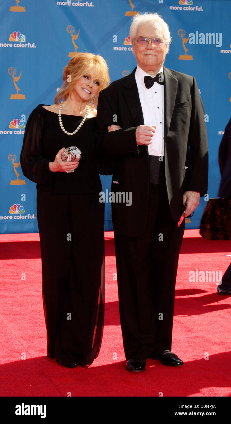 Ann-Margret and actor Roger Smith, 62nd Primetime Emmy Awards (The Emmys) held at the kia Theatre - Arrivals Los - Stock Image