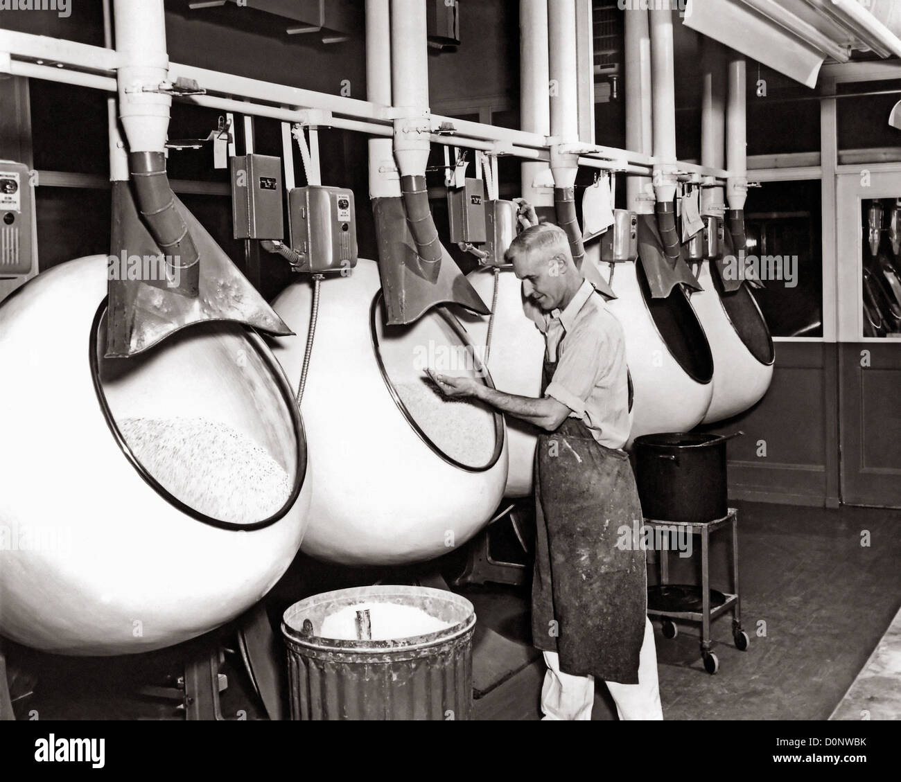 This historical photograph provided Center Disease Control's (CDC) National Institute Occupational Safety Health - Stock Image