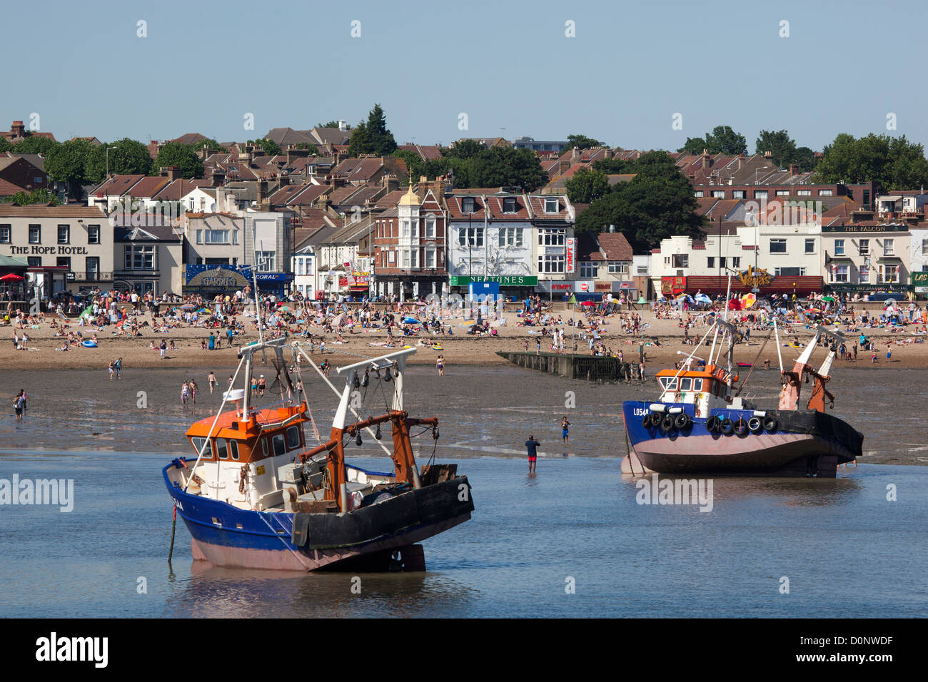 Fishing Boats at Southend on Sea Essex - Stock Image