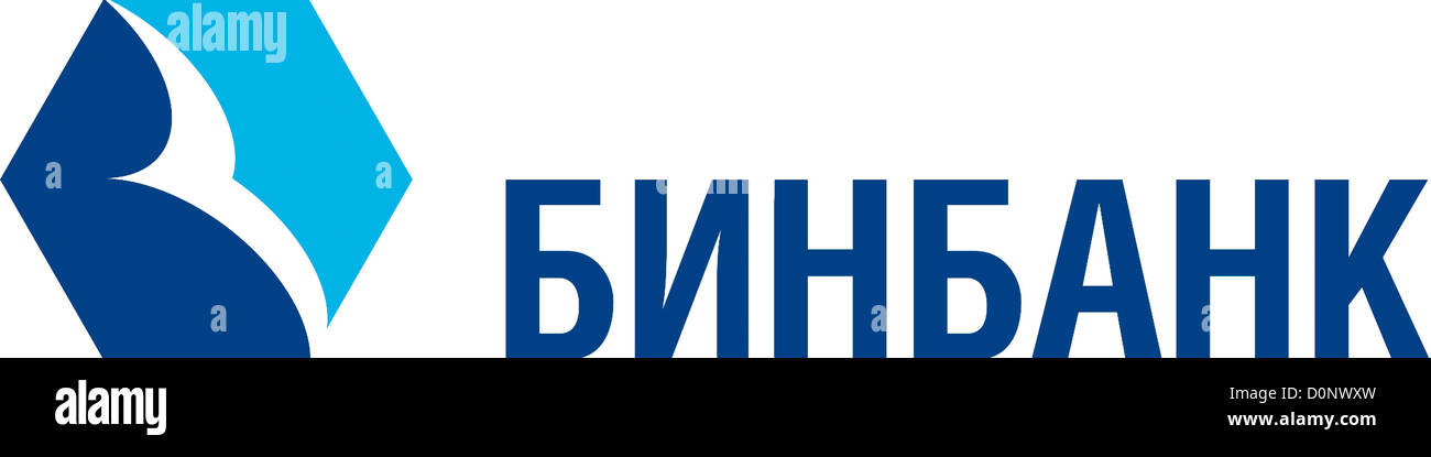 Logo of the Russian credit institution BinBank with seat in Moscow. - Stock Image