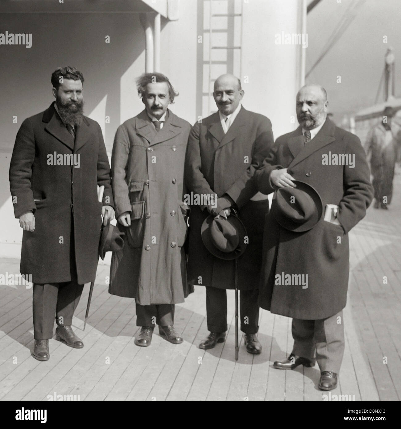 Einstein and Zionist Leaders - Stock Image