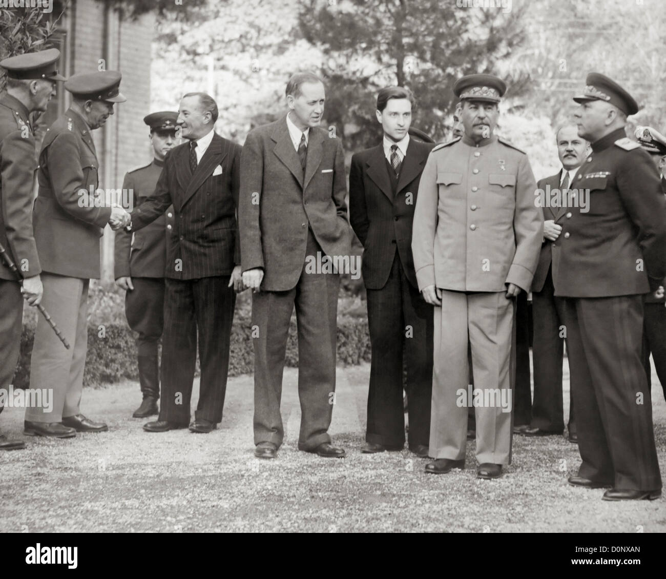 Stalin and Others at Tehran Conference. Stock Photo