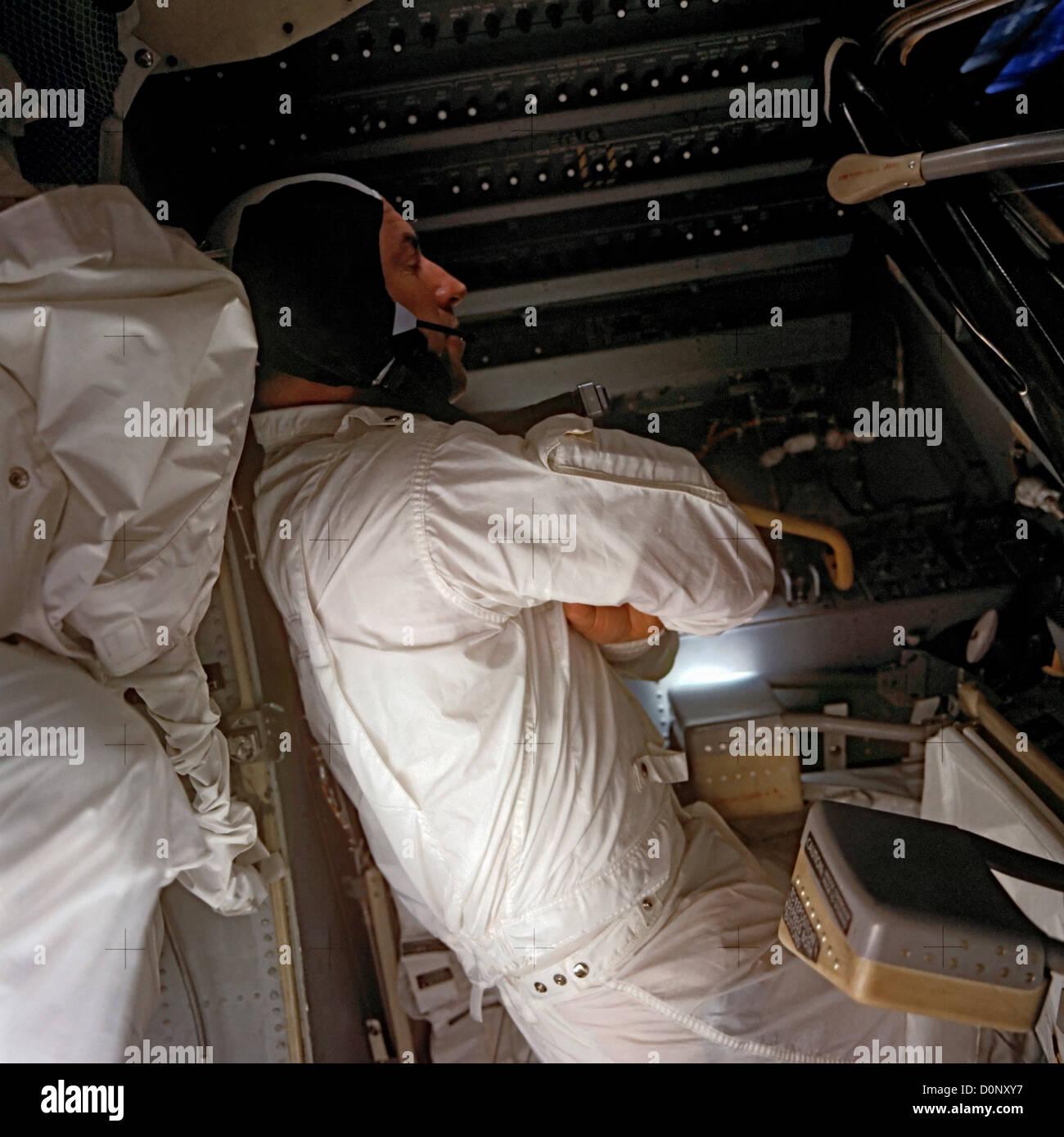 Apollo 13 - An Astronaut Sleeps - Stock Image