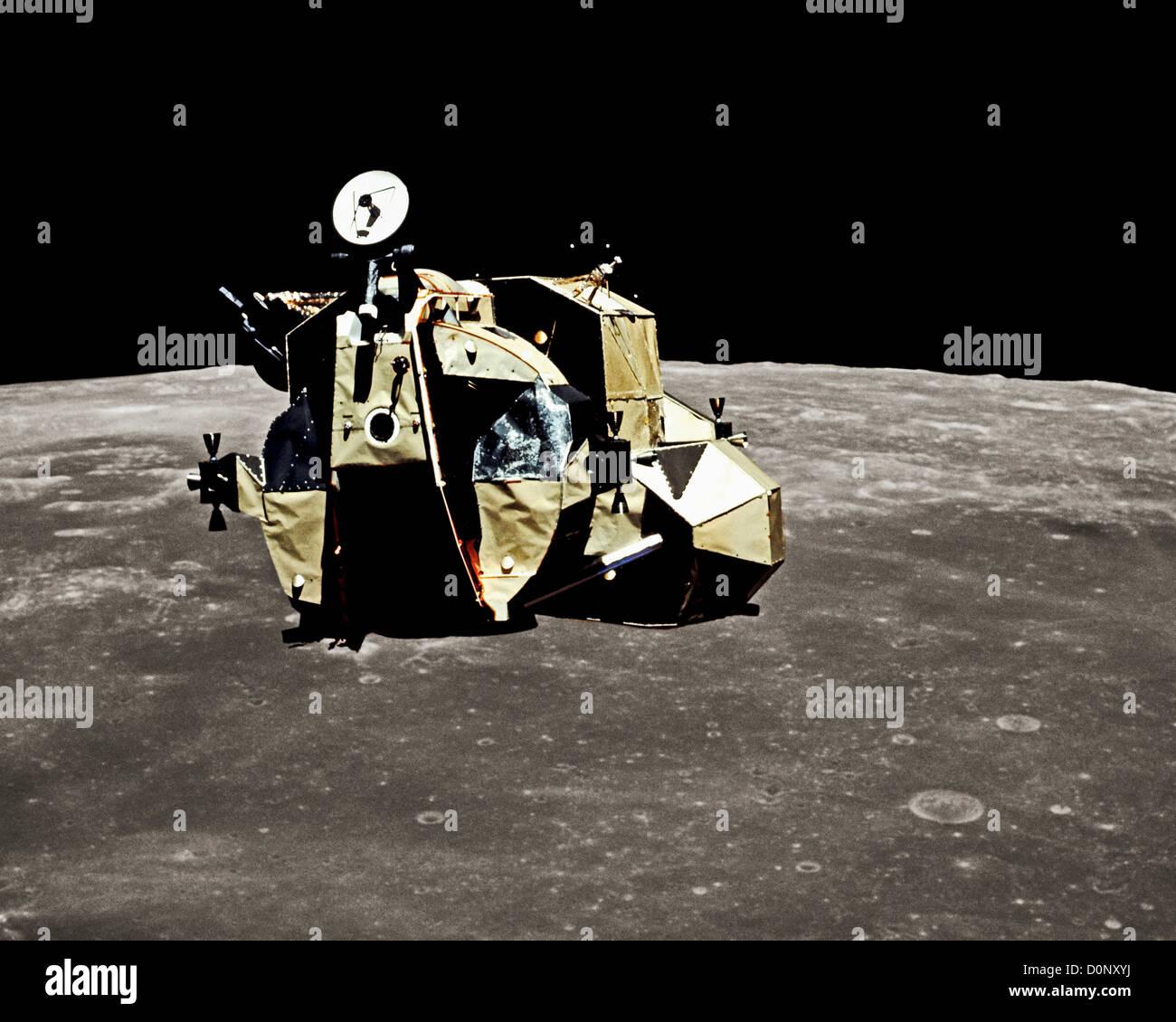 Apollo 16 Lunar Module Ascent Stage Rises Above the Moon ...