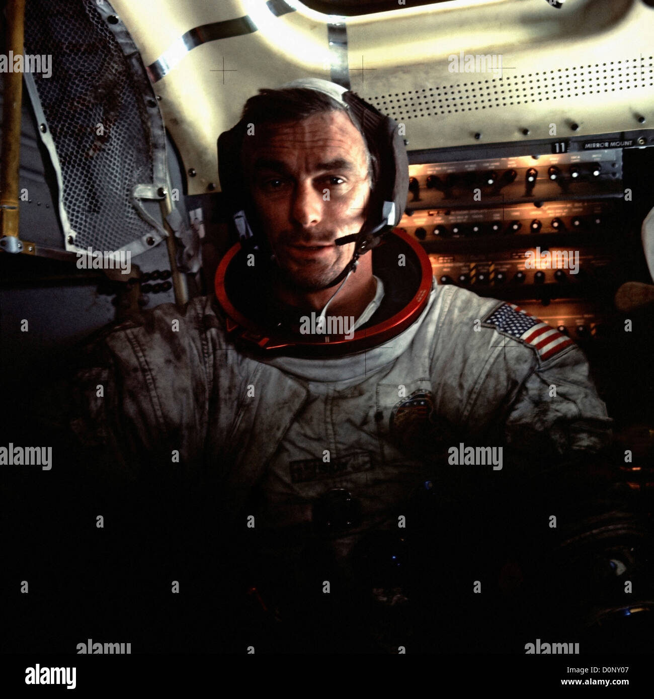 Apollo 17 - Tired But Ecstatic - Stock Image