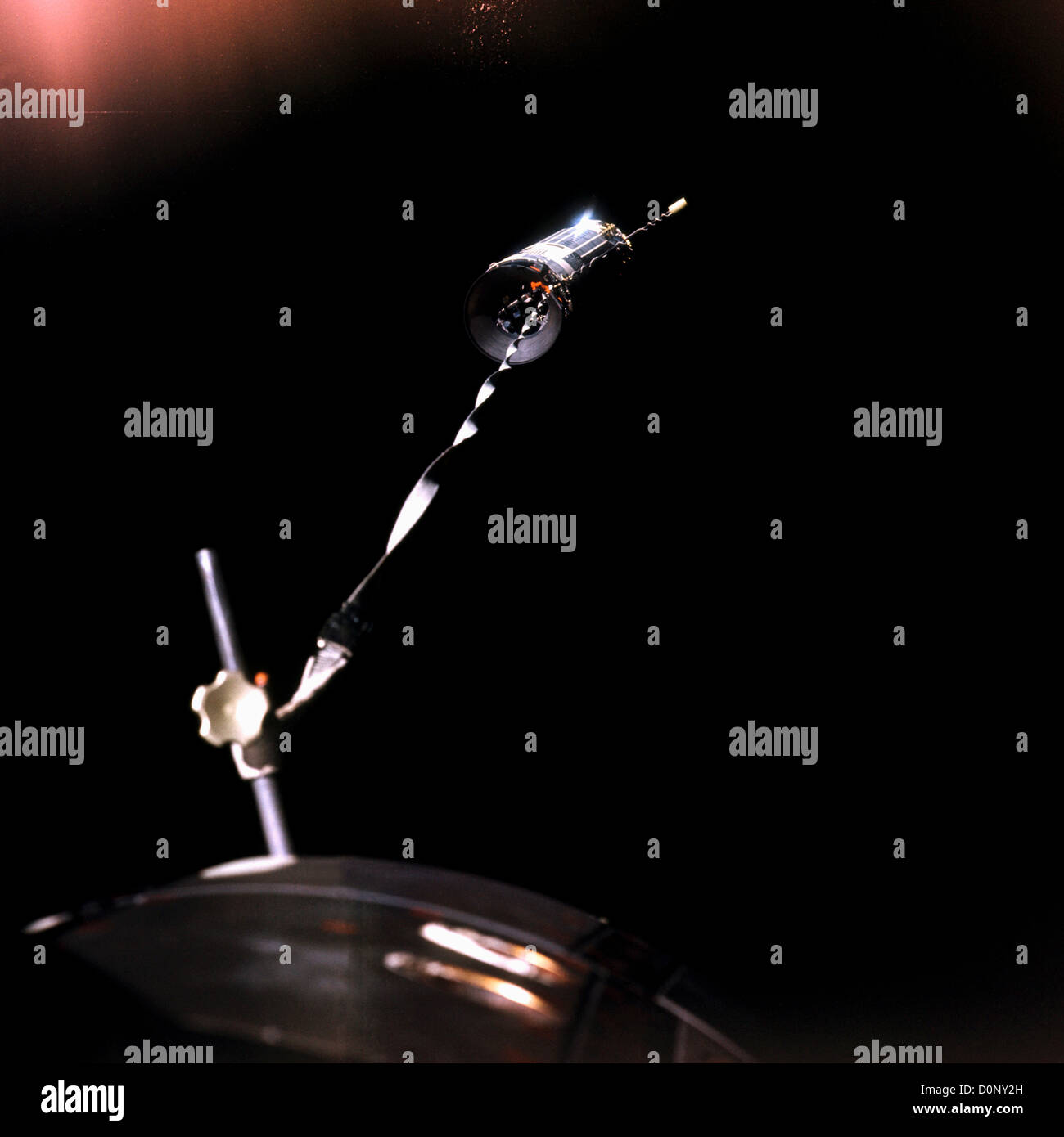 Agena Rocket Tethered to Gemini 12 - Stock Image