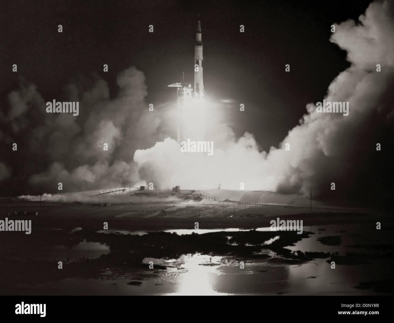 Launch of Apollo 17 - Stock Image