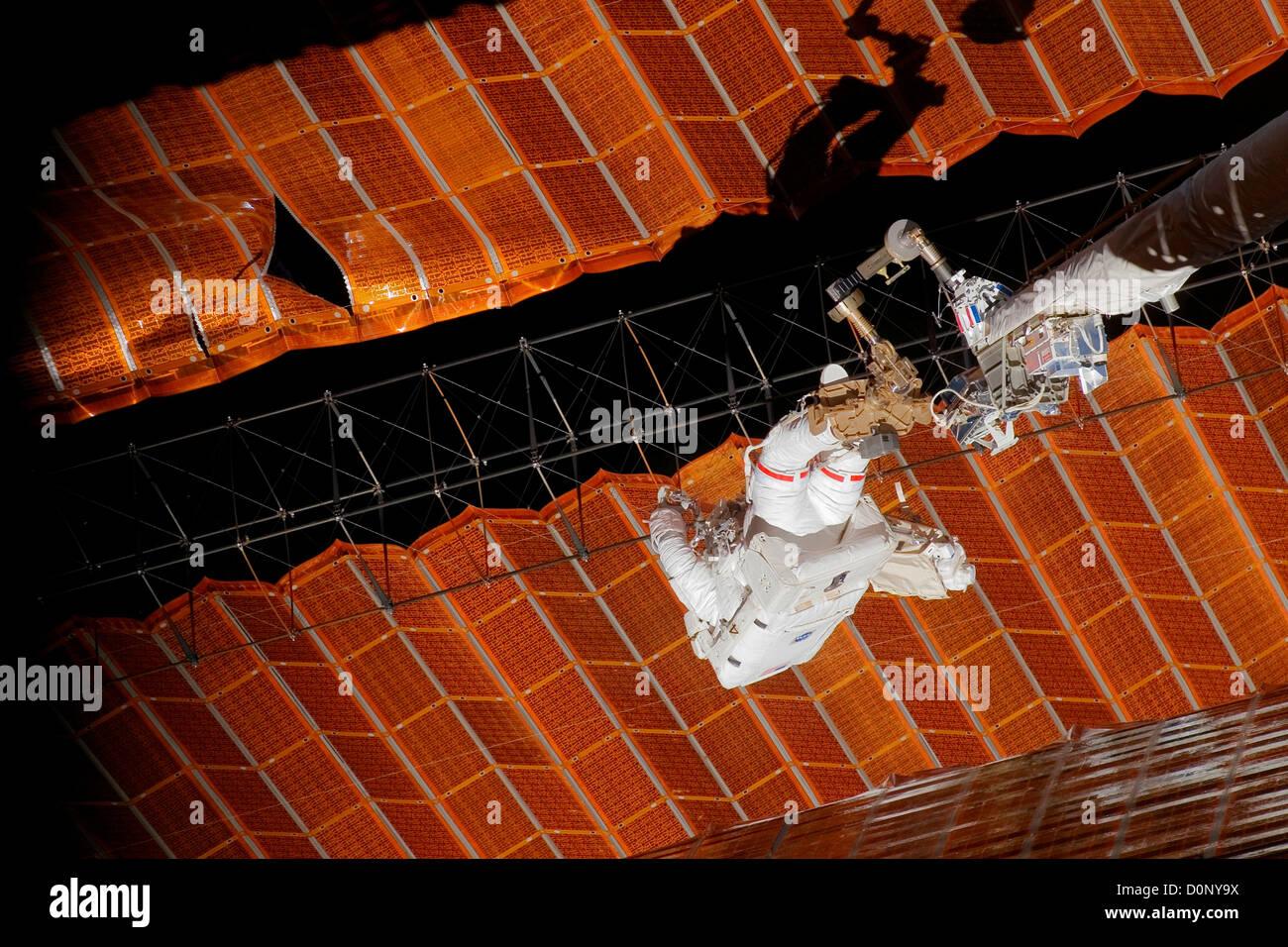 Repairing Solar Array - Stock Image