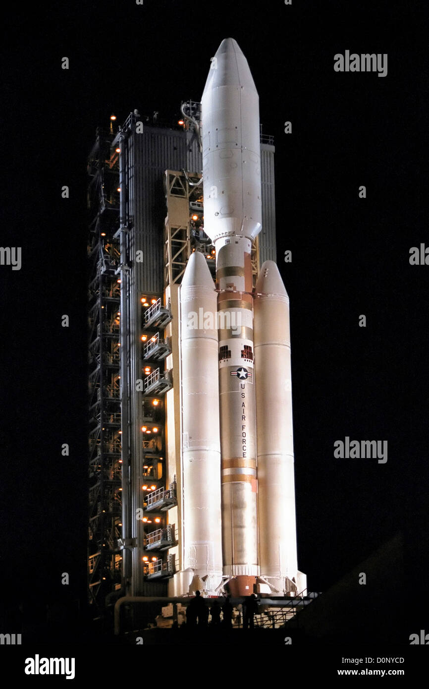 Titan IV Ready to Launch Cassini - Stock Image