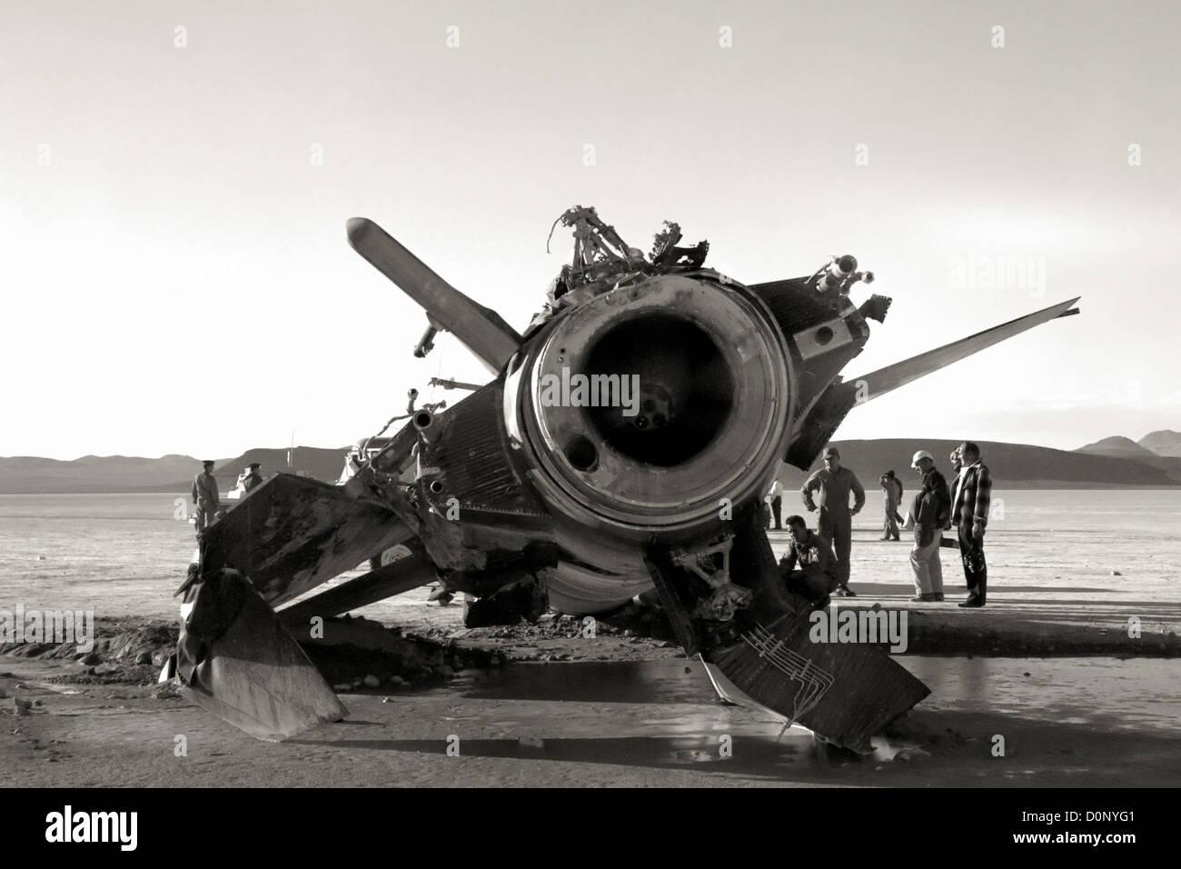 X-15 Wreckage - Stock Image