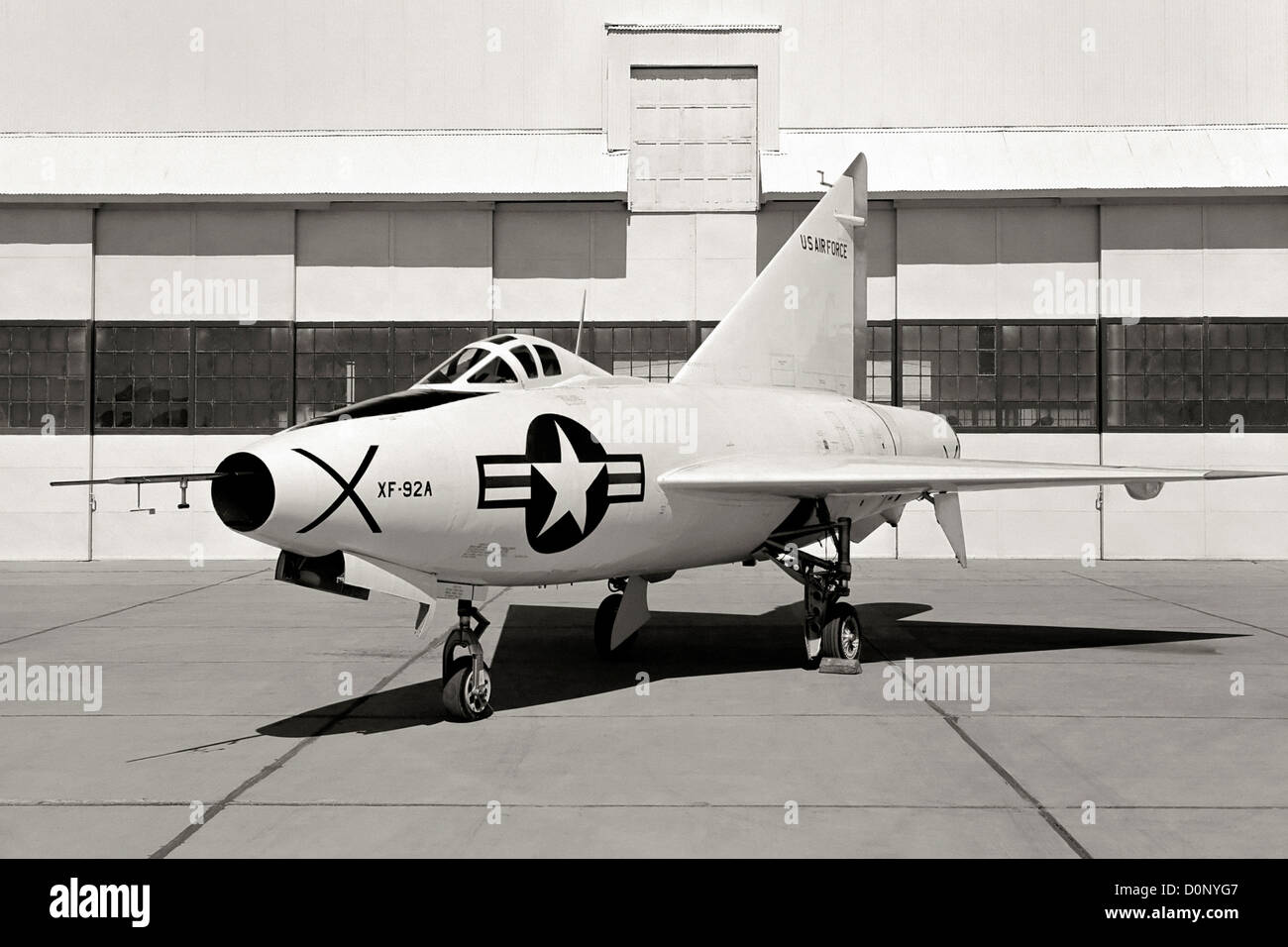 XF-92A Dart and Hanger - Stock Image