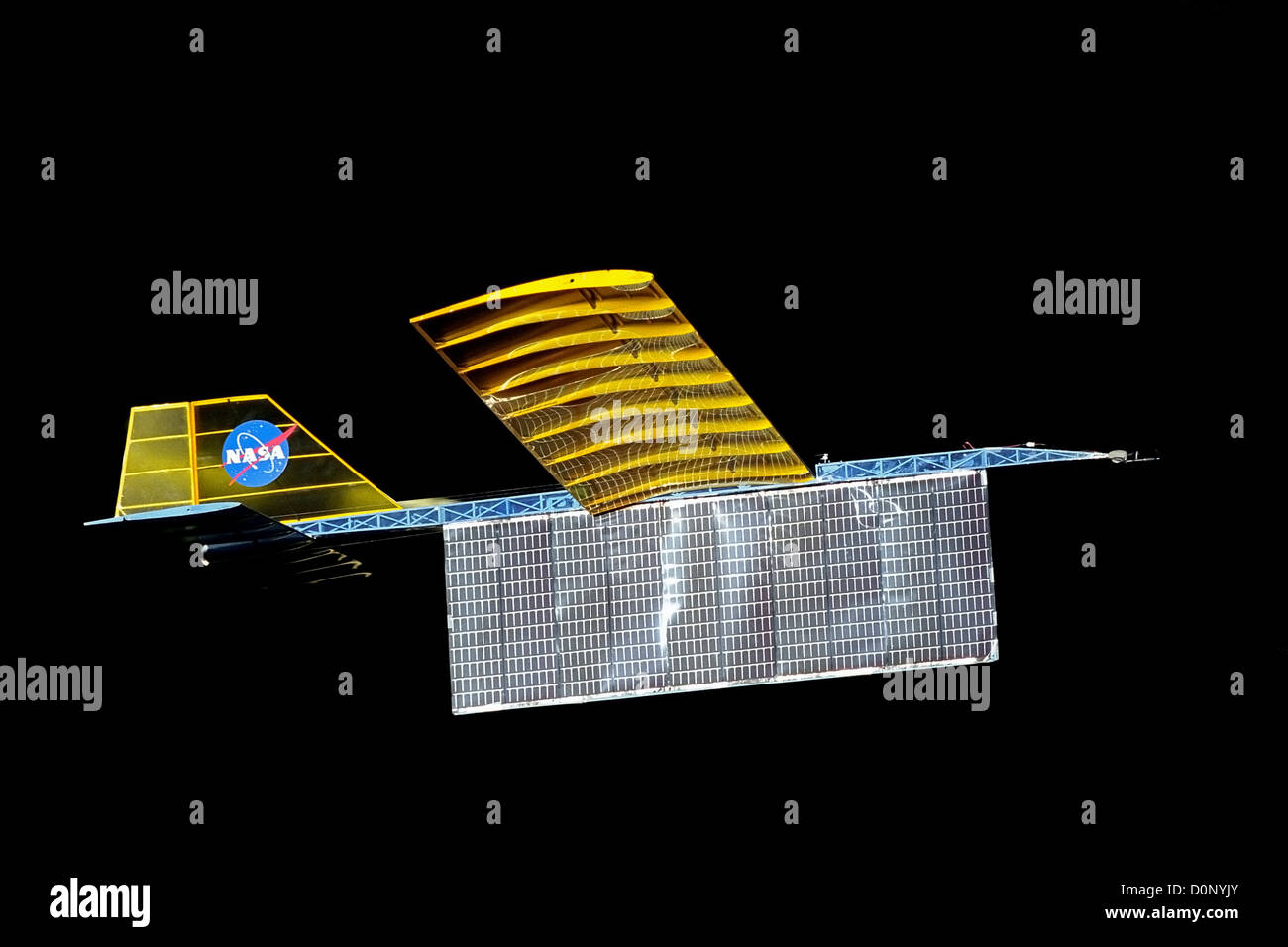 Experimental Solar Powered Aircraft Model - Stock Image