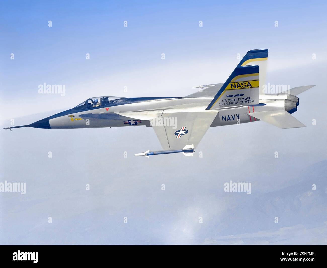 YF-17 in Flight - Stock Image