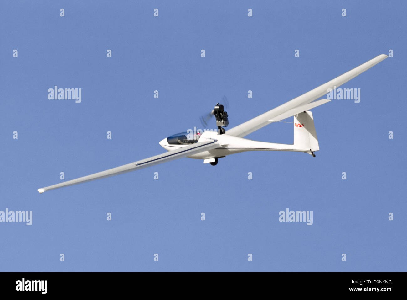PIK-20 Aircraft in Flight Stock Photo