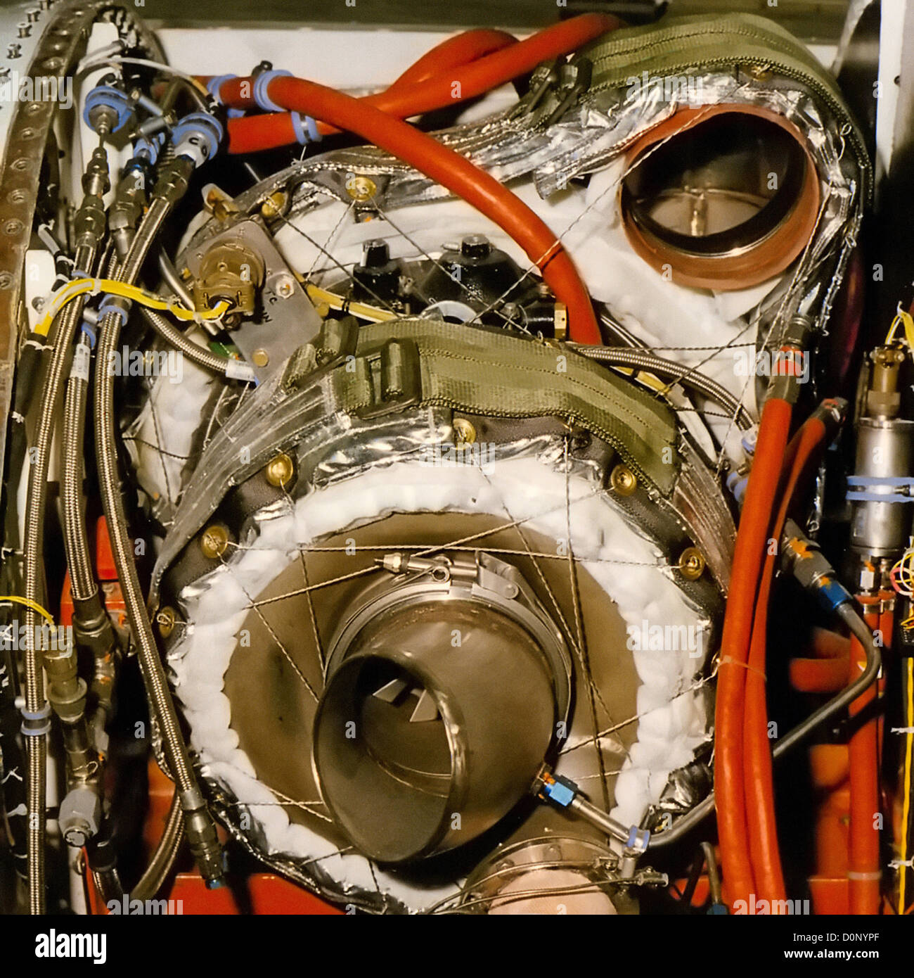 Turbo-Compressor in Upper Fuselage of F-16 - Stock Image