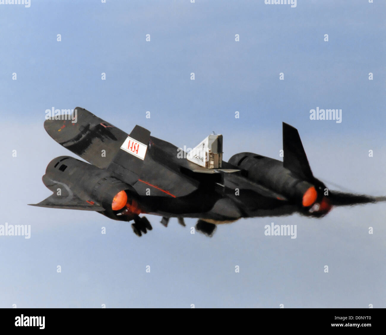 Linear Aerospike SR-71 Experiment (LASRE) - Stock Image