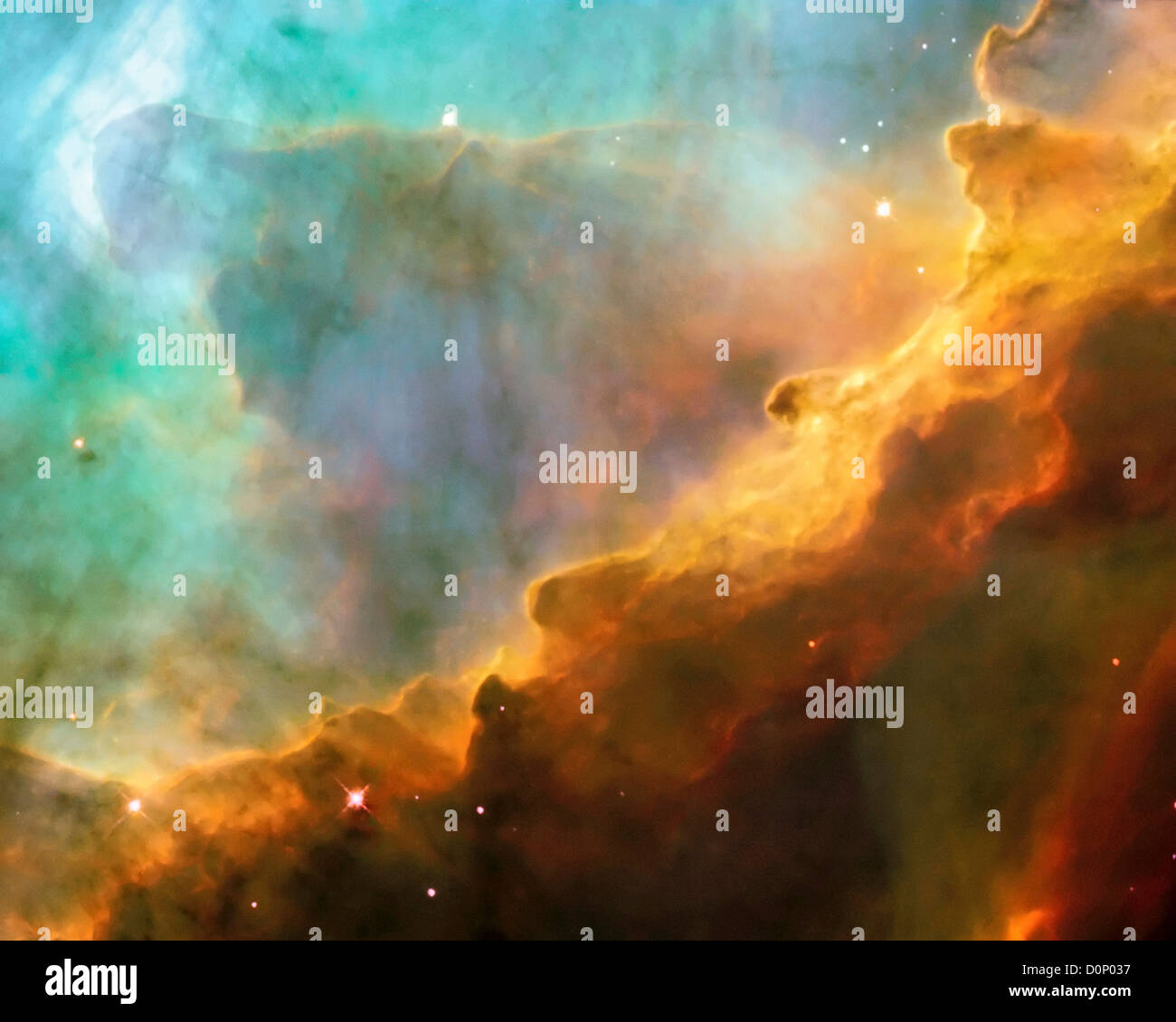 Stars in the Swan Nebula - Stock Image