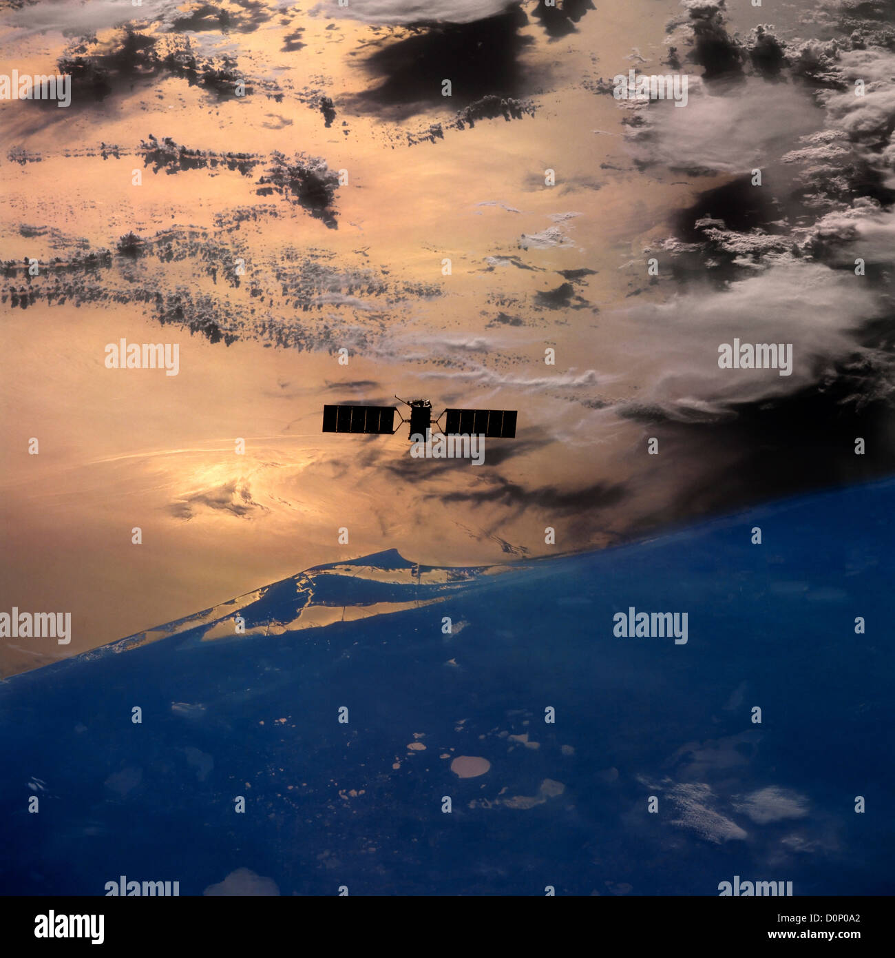 Cape Canaveral and the Eureka Satellite - Stock Image