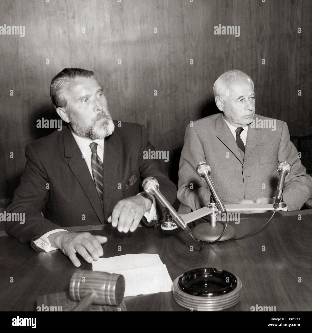 Wernher von Braun and Eberhard Rees - Stock Image