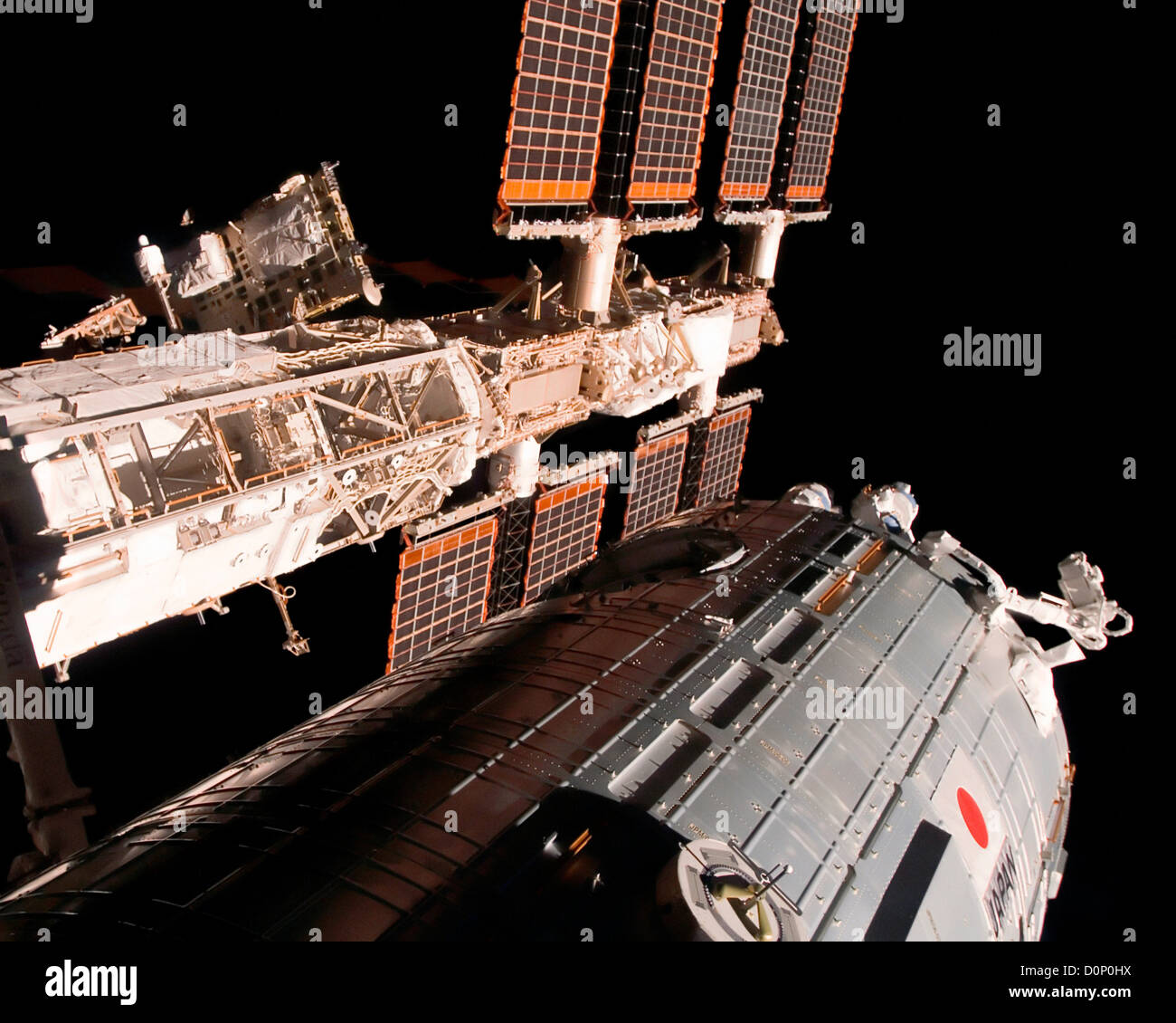 Kibo Attached to International Space Station - Stock Image
