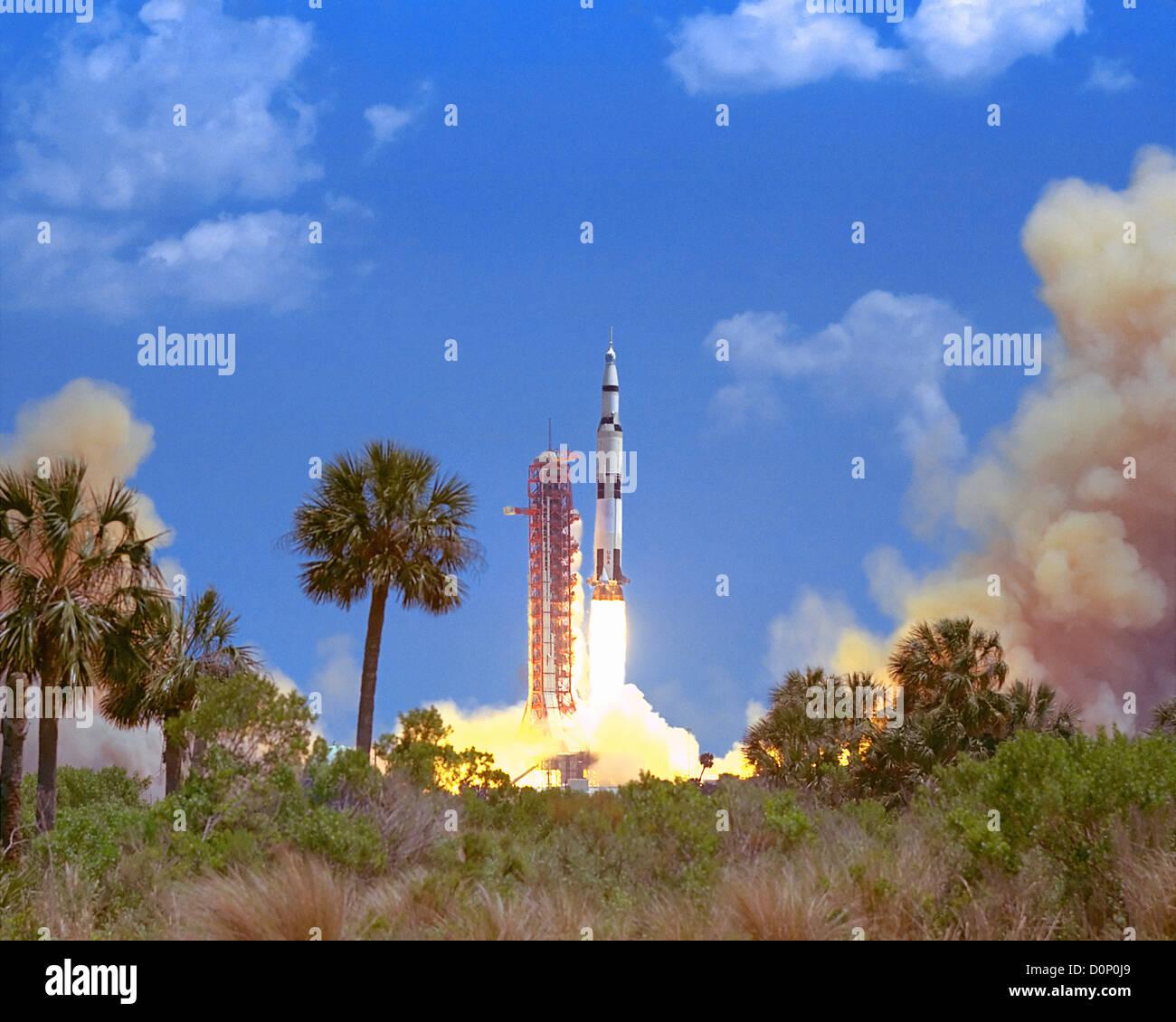 Launch of Apollo 16 - Stock Image