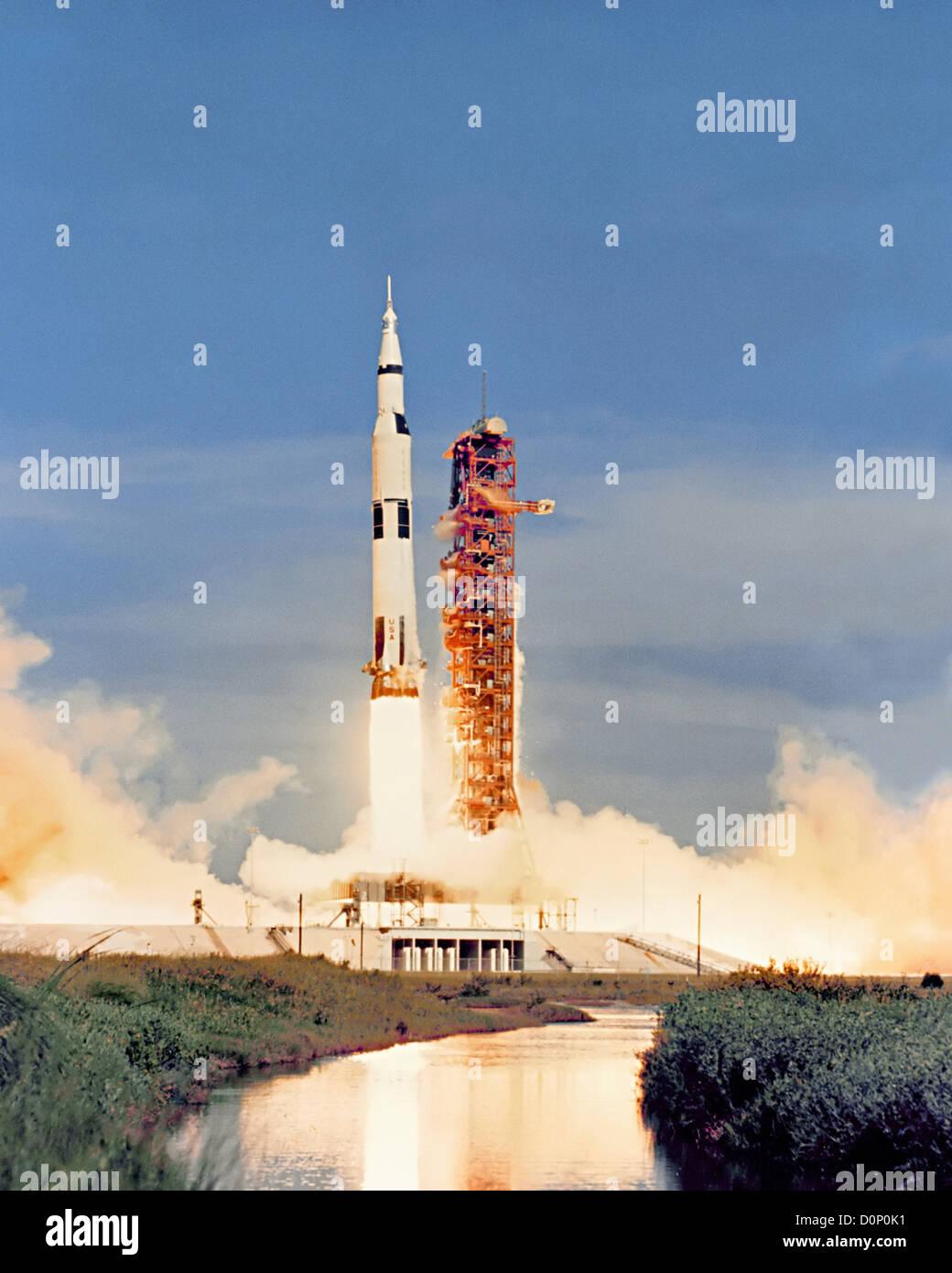 Launch of Apollo 15 - Stock Image