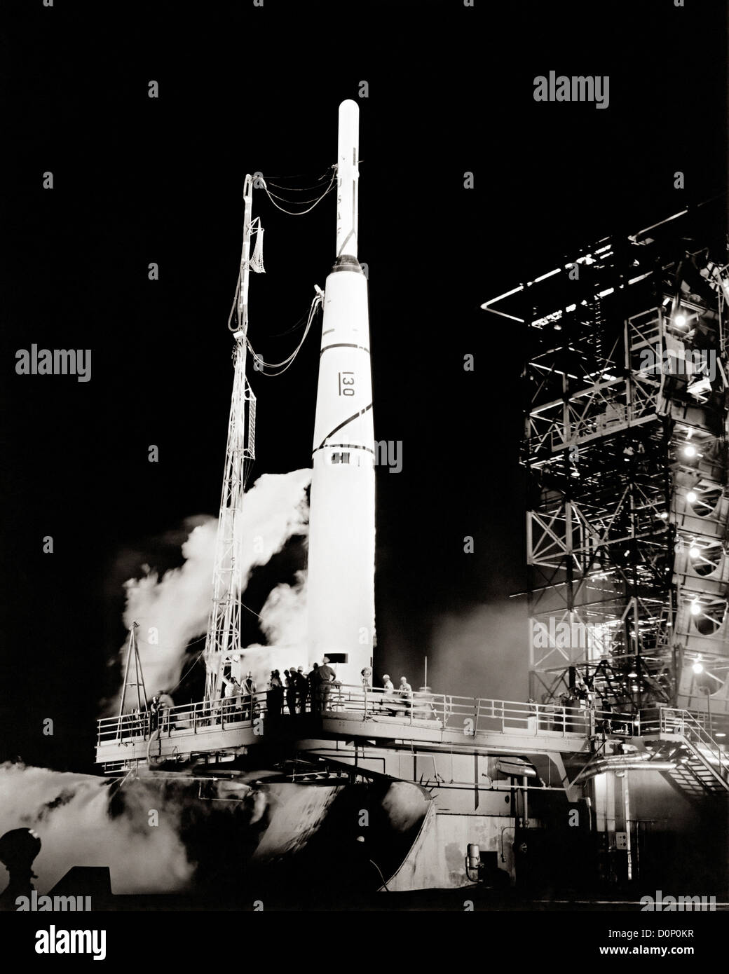 Pioneer 1 on Launch Pad - Stock Image