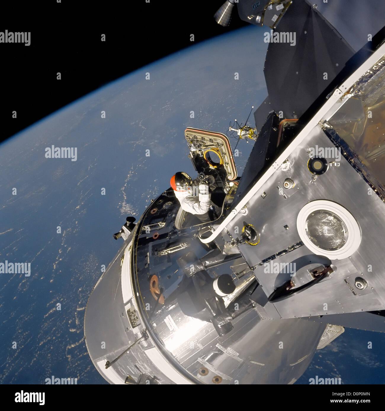 Docking Maneuvers During Apollo 9 - Stock Image
