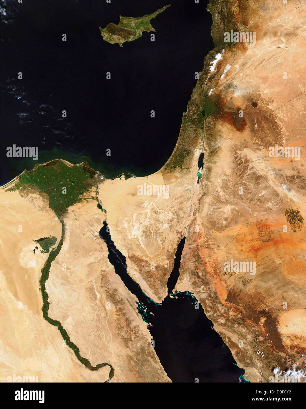 Middle East Map Dead Sea.Dead Sea Jordan Israel Nasa Stock Photos Dead Sea Jordan Israel
