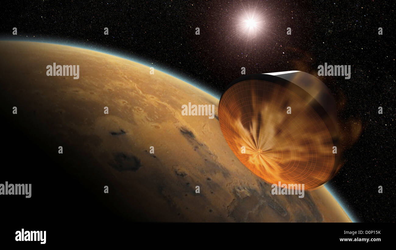Entering Martian Orbit - Stock Image