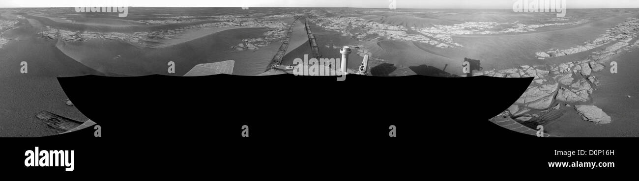 Martian Panorama - Stock Image