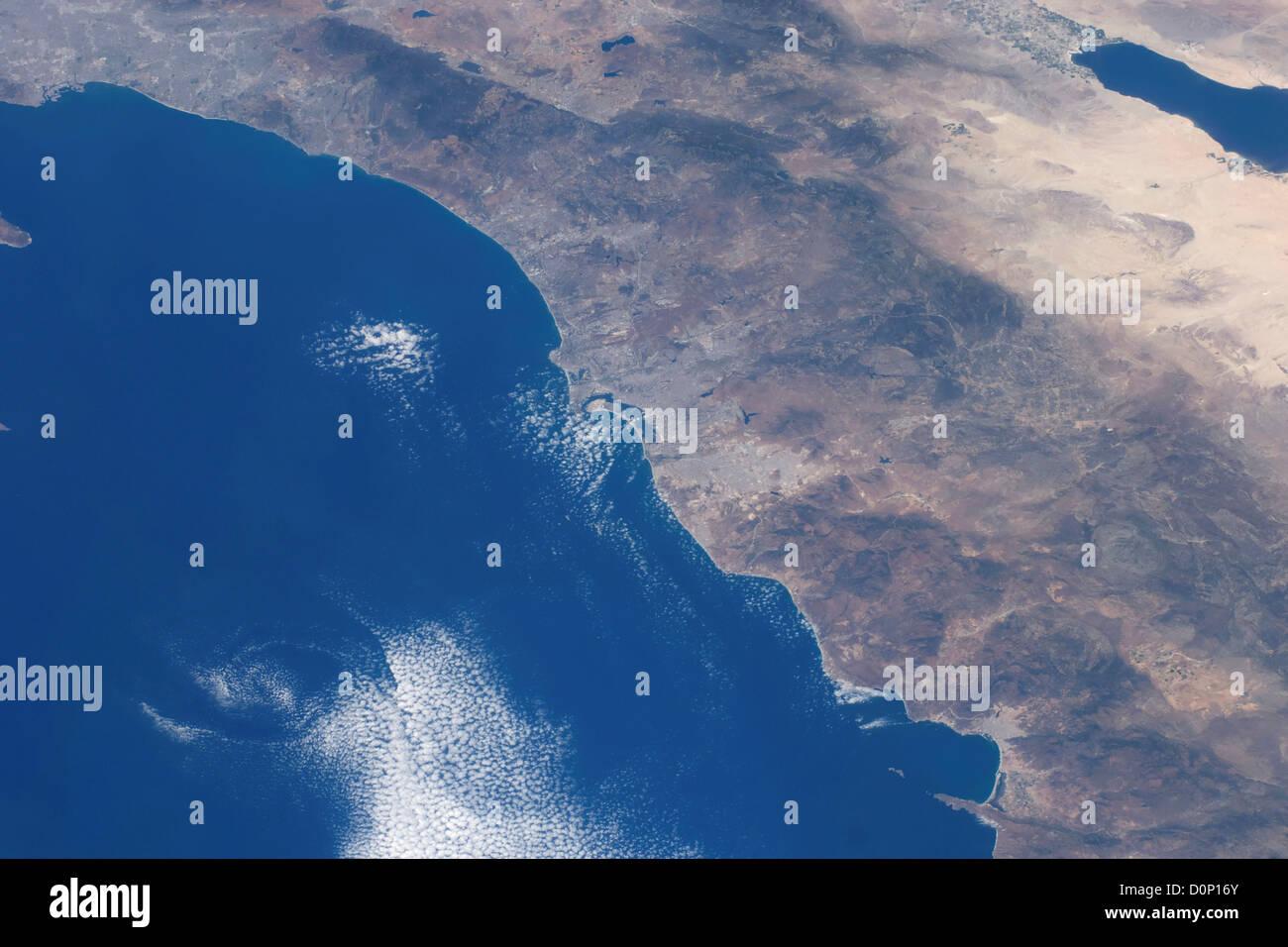 San Diego from Orbit - Stock Image