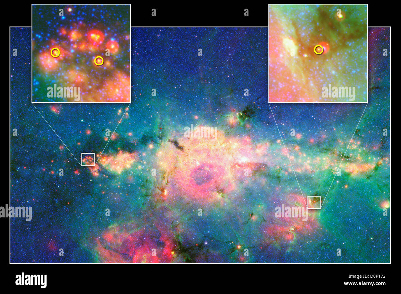 Newborn Stars Near Galactic Core - Stock Image