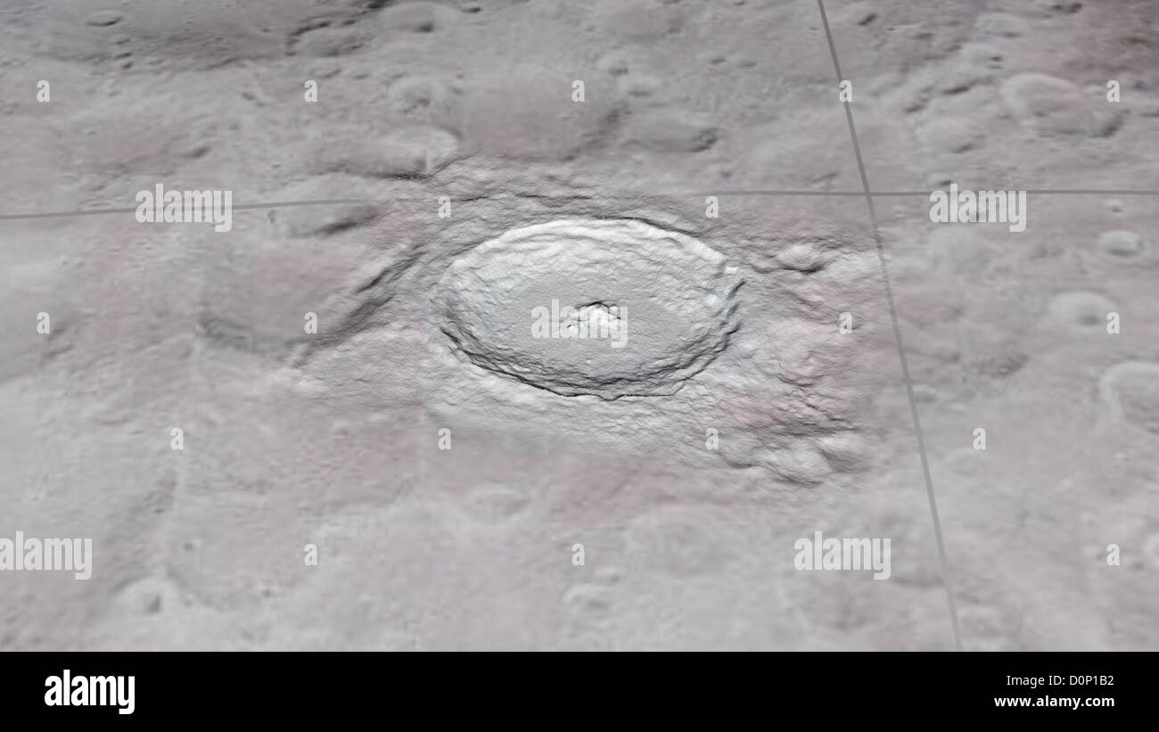 Tycho Crater - Stock Image