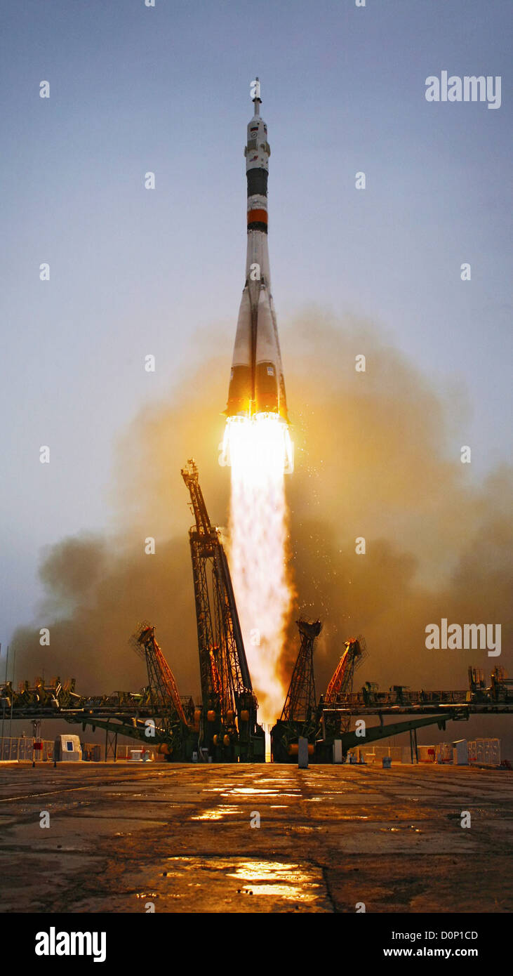 Liftoff of Space Station Expedition 19 - Stock Image