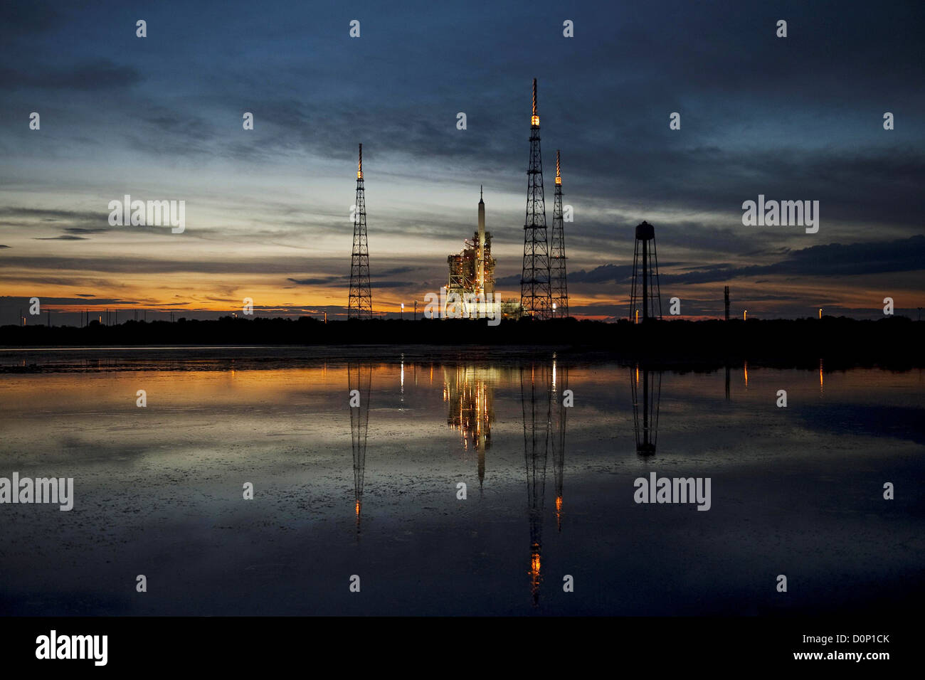 Ares I-X on the Launch Pad - Stock Image