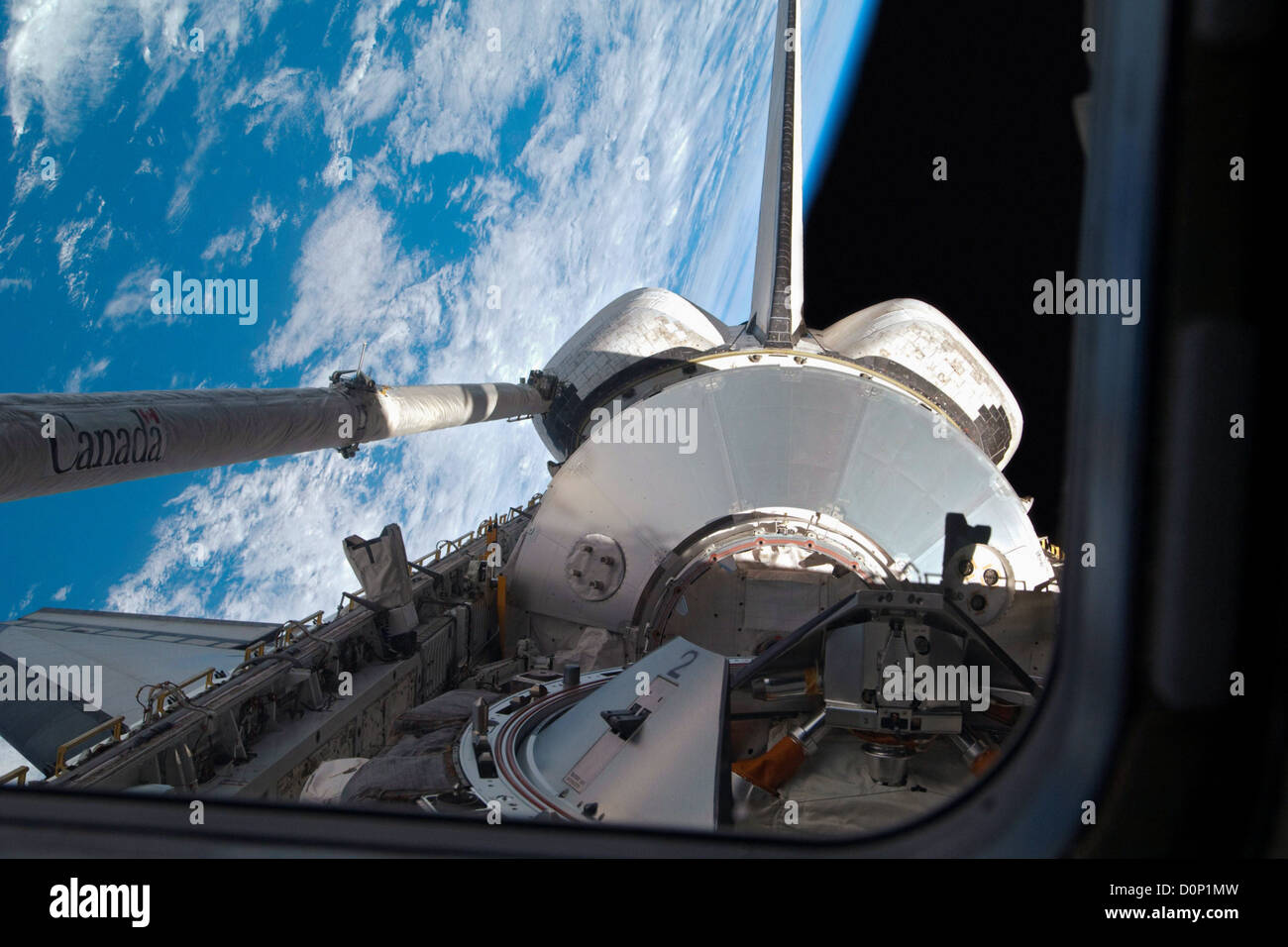 Leonardo Module in Shuttle Payload Bay - Stock Image